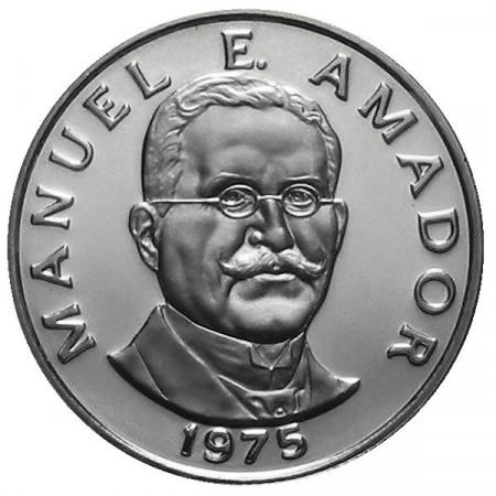 "1975 * 10 Centesimi Panamá ""Manuel E Amador"" Proof"