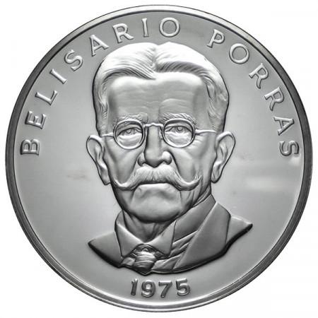 "1975 * 5 Balboas argento Panamá ""Belisario Porras"" Proof"
