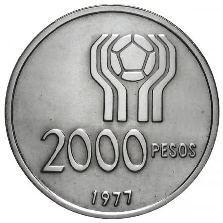 1977 * 2000 Pesos Argentina Mondiali di calcio