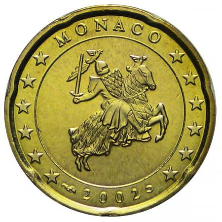 2002 * 20 centesimi MONACO sigillo di Stato