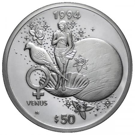1994 * 50 Dollari d'argento 1 OZ Isole Marshall Venere