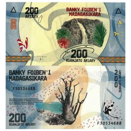 """ND (2017) * Banconota Madagascar 200 Ariary """"Baobab"""" (pNew) FDS"""