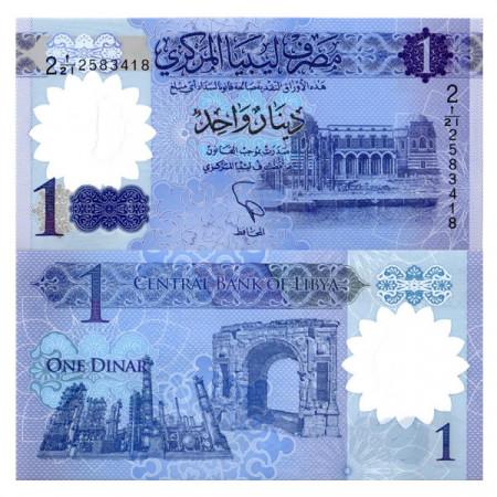 "ND (2019) * Banconota Polimera Libia 1 Dinar ""Marcus Aurelius Arch"" (pNew) FDS"
