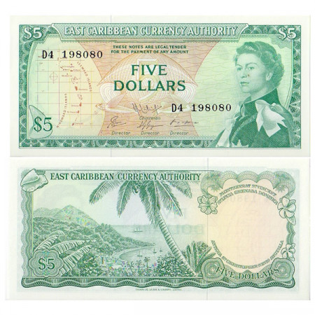 ND (1965) * Banconota East Caribbean States 5 Dollari FDS