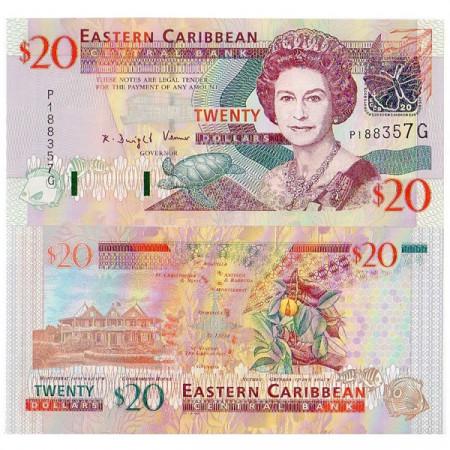 "ND (2003) * Banconota East Caribbean States ""Grenada"" 20 Dollari FDS"
