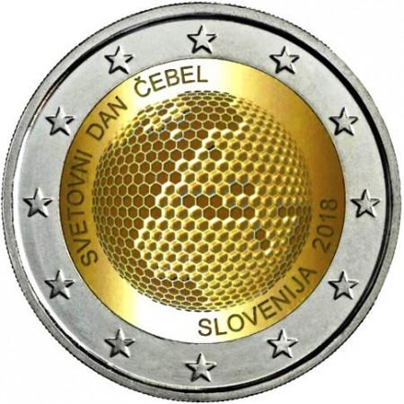 """2018 * 2 Euro SLOVENIA """"Giornata Mondiale delle Api"""" UNC"""