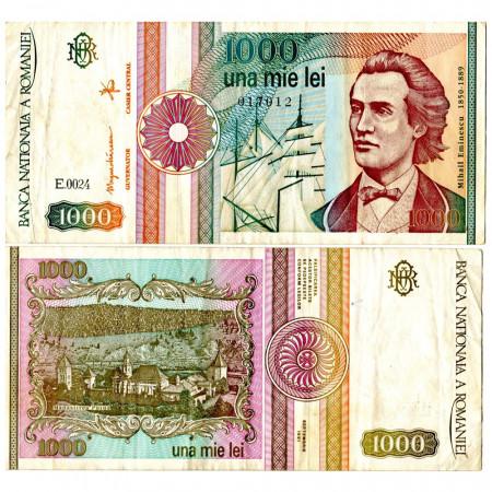 """1991 * Banconota Romania 1000 Lei """"Mihai Eminescu"""" (p101Aa) BB"""
