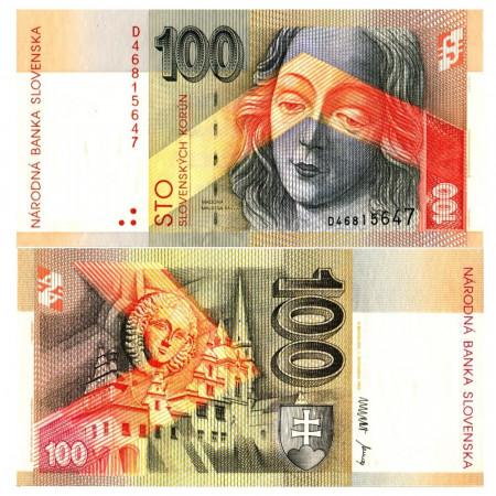 "1993 * Banconota Slovacchia 100 Korun ""Madonna in St. Jacob's Church"" (p24) FDS"