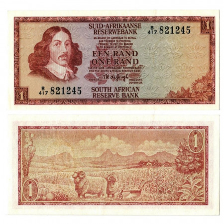 "ND (1966-1972) * Banconota Sudafrica 1 Rand ""Jan van Riebeeck"" (p110b) qFDS"