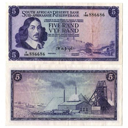 "ND (1966-1976) * Banconota Sudafrica 5 Rand ""Jan van Riebeeck"" (p111b) SPL"
