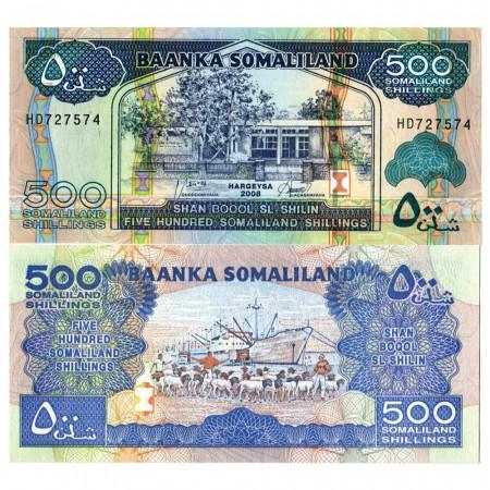 """2008 * Banconota Somaliland 500 Shillings =500 Shilin """"Goodirka"""" (p6g) FDS"""