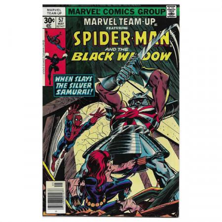 """Fumetto Marvel #57 05/1977 """"Marvel Team-Up ft Spiderman - Black Widow"""""""