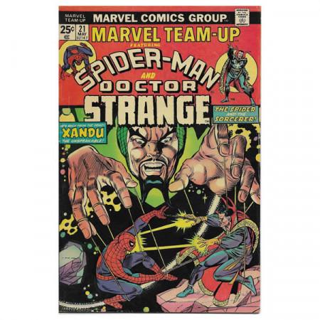 """Fumetto Marvel #21 05/1974 """"Marvel Team-Up ft Spiderman - Doctor Strange"""""""