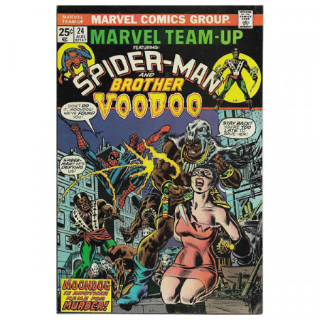 "Fumetto Marvel #24 08/1974 ""Marvel Team-Up ft Spiderman - Brother Voodoo"""
