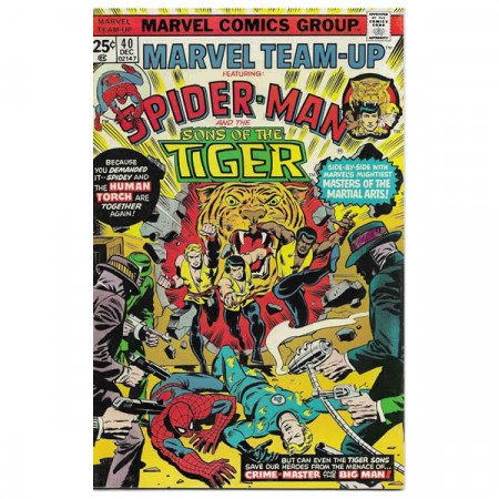 """Fumetto Marvel #40 12/1975 """"Marvel Team-Up ft Spiderman – The Sons of the Tiger"""""""