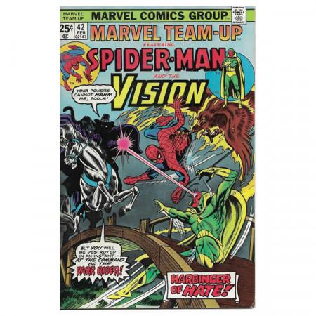 "Fumetto Marvel #42 02/1976 ""Marvel Team-Up ft Spiderman - Vision"""