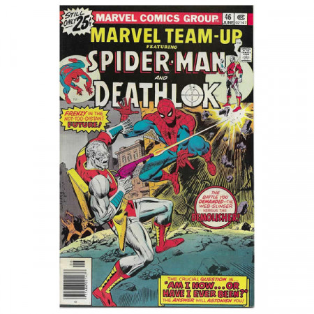 """Fumetto Marvel #46 06/1976 """"Marvel Team-Up ft Spiderman - Deathlok"""""""