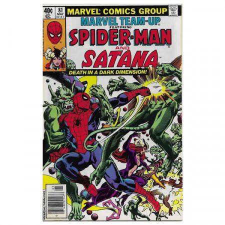 """Fumetto Marvel #81 05/1979 """"Marvel Team-Up ft Spiderman - Satana"""""""