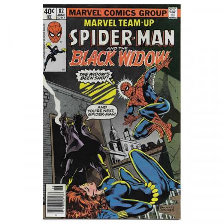 """Fumetto Marvel #82 06/1979 """"Marvel Team-Up ft Spiderman - Black Widow"""""""