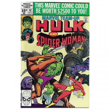 """Fumetto Marvel #97 09/1980 """"Marvel Team-Up Hulk - Spiderwoman"""""""