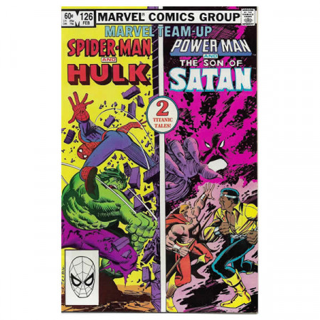 "Fumetto Marvel #126 02/1983 ""Marvel Team-Up Spiderman Hulk + Power Man - Son of Satan"""