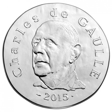 """2015 * 10 Euro FRANCIA """"Charles de Gaulle"""" Proof"""