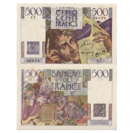 "1945 * Banconota Francia 500 Franchi ""Chateaubriand"" BB+"