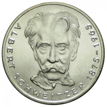 """1975 G * 5 Mark Argento Germania Federale """"100° Anniversario Albert Schweitzer"""" (KM 143) FDC"""
