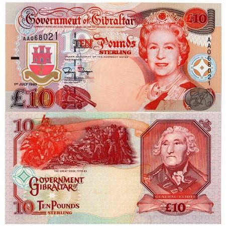 1995 * Banconota Gibilterra 10 Pounds (p26a) FDS