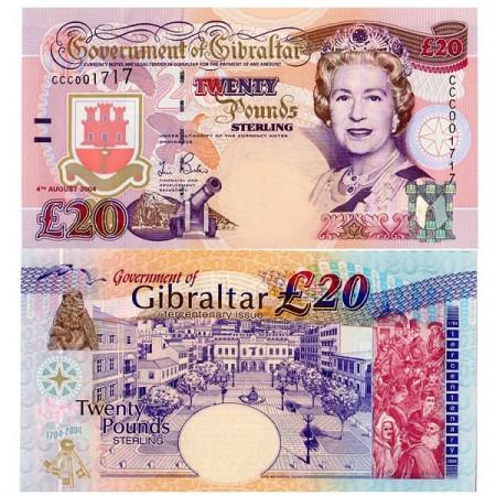 "2004 * Banconota Gibilterra 20 Pounds (p31a) ""Tercentenary Issue"" FDS"