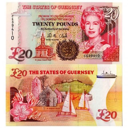 ND (1996) * Banconota Guernsey 20 Pounds (p58b) FDS