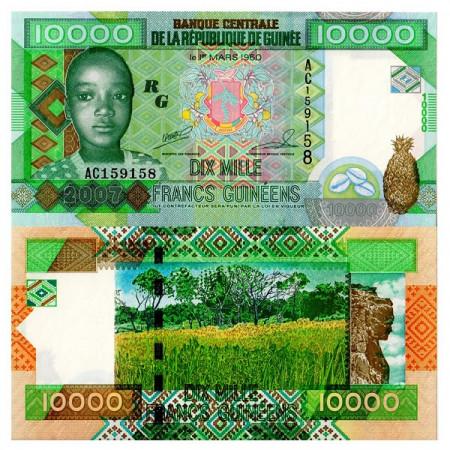 2007 * Banconota Guinea 10.000 Francs (p42a) FDS