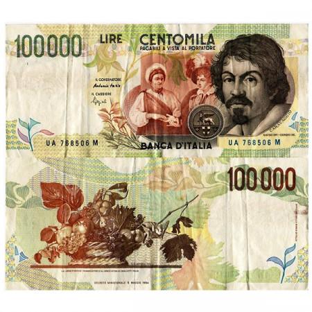 """1994 * Banconota Italia 100.000 Lire """"Caravaggio - Tipo 2"""" BI.931 (p117a) BB"""