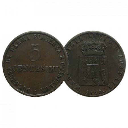 "1830 M * 5 Centesimi Italia ""Maria Luigia - Ducato di Parma e Piacenza"" (G 14 - C 25) BB+"
