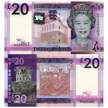 ND (2010) * Banconota Isola di Jersey 20 Pounds (p35a) FDS