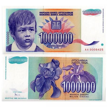 1993 * Banconota Jugoslavia 1 Milione - 1.000.000 Dinara (p120) FDS