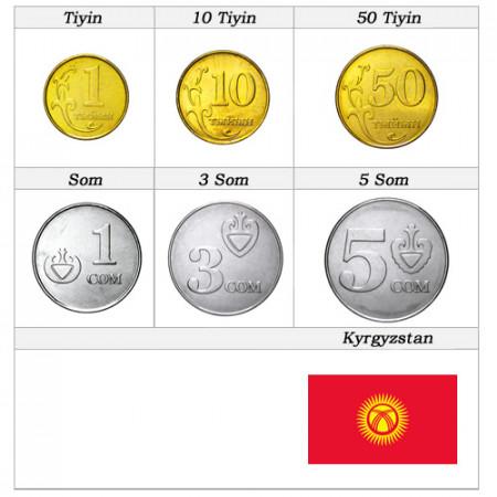 Anni Misti * Serie 6 monete Kirghizistan