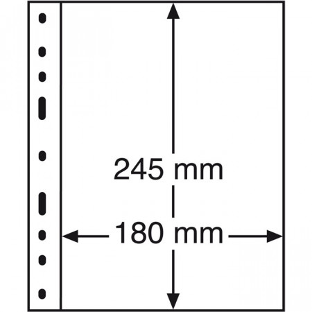 Leuchtturm * 10 Fogli OPTIMA per banconote, 1 tasca, nero
