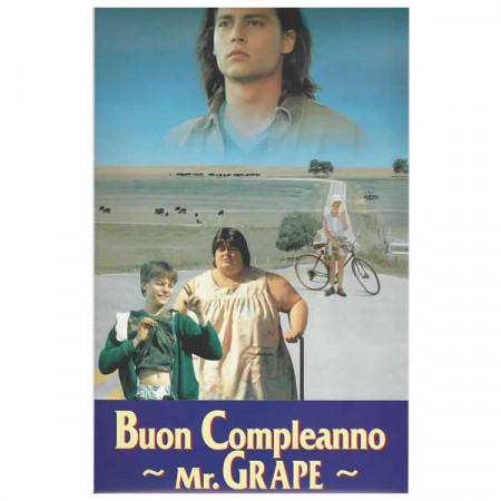 """1993 * Locandina Cinematografica Originale """"Buon Compleanno Mr. Grape"""""""