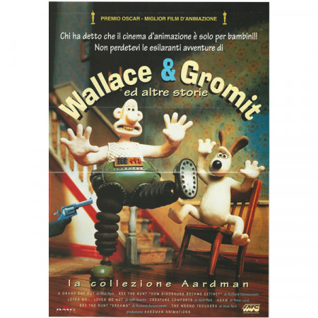 "1993 * Locandina Cinematografica Originale ""Wallace & Gromit Ed Altre Storie"""