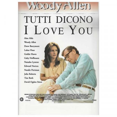 """1996 * Locandina Cinematografica Originale """"Tutti Dicono I Love You - Woody Allen"""""""