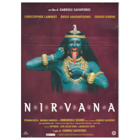 "1997 * Locandina Cinematografica Originale ""Nirvana - G Salvatores"""