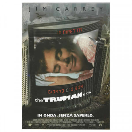 "1998 * Locandina Cinematografica Originale ""The Truman Show - Jim Carrey"""