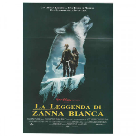 "1994 * Locandina Cinematografica Originale ""La Leggenda Di Zanna Bianca - Walt Disney"""