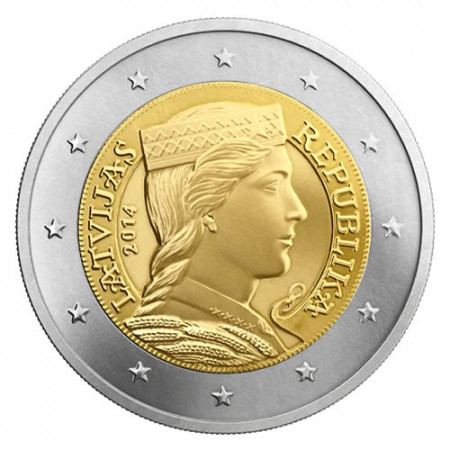 2014 * 2 euro Lettonia fanciulla lettone