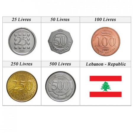 Anni Misti * Serie 5 Monete Libano