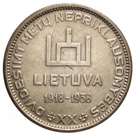 "ND (1938) * 10 Litu Argento Lituania ""20th Anniversary of Republic"" (Y 84) BB+"