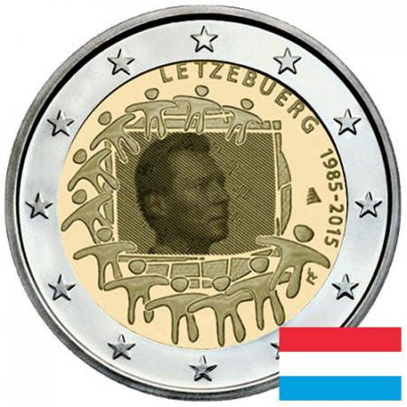 "2015 * 2 Euro LUSSEMBURGO ""30º Anniversario della Bandiera Europea"""