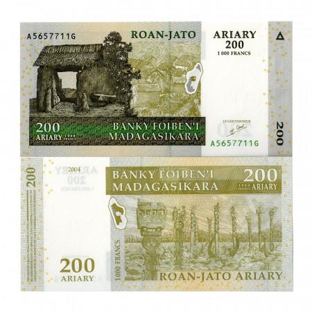 2004 * Banconota Madagascar 200 Ariary (p87) FDS