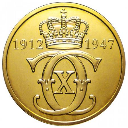 2012 * Medaglia Danimarca monogramma Reale Re Christian X 1912-47